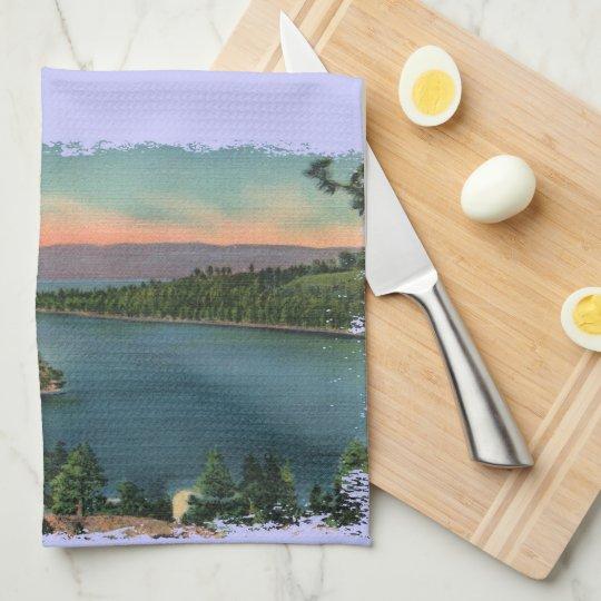 Vintage Lake Tahoe Emerald Bay Hand Towel