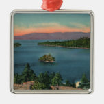 Vintage Lake Tahoe Emerald Bay Metal Ornament