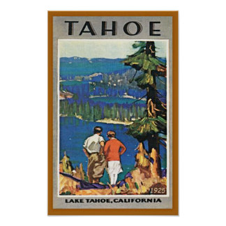Vintage Lake Tahoe Travel Poster