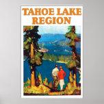 Vintage Lake Tahoe Travel Poster