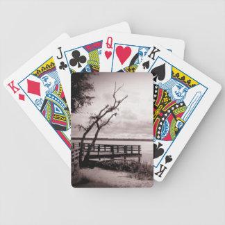 Vintage Lake View Bicycle Playing Cards