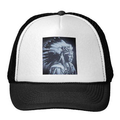 Vintage Lakota Sioux White Swan Chief Hat