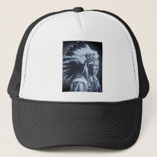 Vintage Lakota Sioux White Swan Chief Trucker Hat