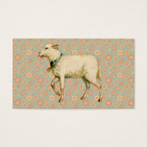 Vintage Lamb Art Business Card