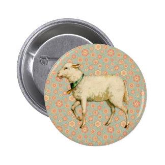 Vintage Lamb Art Button