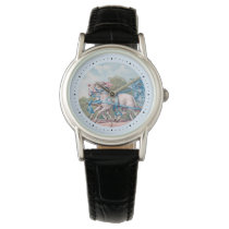 Vintage Lambs Dressed  in Blue Ribbons Watch