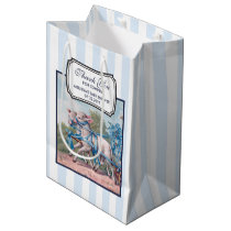 Vintage Lambs Dressed  in Fancy Blue Ribbons Medium Gift Bag