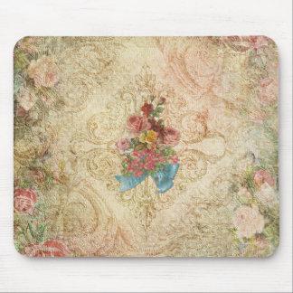 Vintage lamentable Mousepad floral Alfombrillas De Ratones