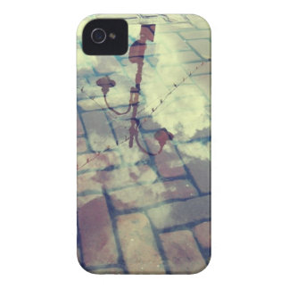 Vintage lamp post Europe reflection iPhone 4 Case