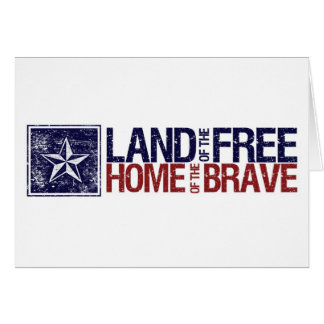 Vintage Land of the Free Star – 4th of July Card