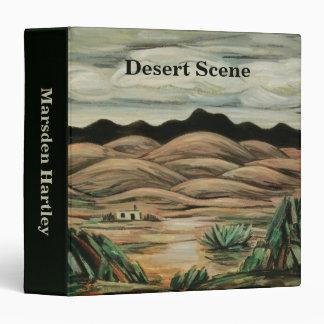 Vintage Landscape, Desert Scene by Marsden Hartley 3 Ring Binder