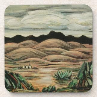 Vintage Landscape, Desert Scene by Marsden Hartley Drink Coasters