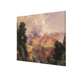 Vintage Landscape, Grand Canyon by Thomas Moran Canvas Print