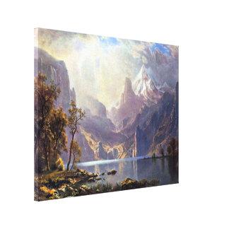 Vintage Landscape, Lake Tahoe by Albert Bierstadt Canvas Print