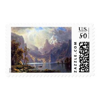 Vintage Landscape, Lake Tahoe by Albert Bierstadt Postage