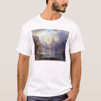 Vintage Landscape, Lake Tahoe by Albert Bierstadt T-Shirt