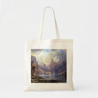 Vintage Landscape, Lake Tahoe by Albert Bierstadt Tote Bag