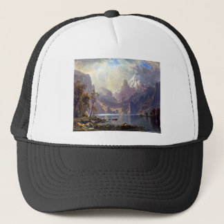 Vintage Landscape, Lake Tahoe by Albert Bierstadt Trucker Hat