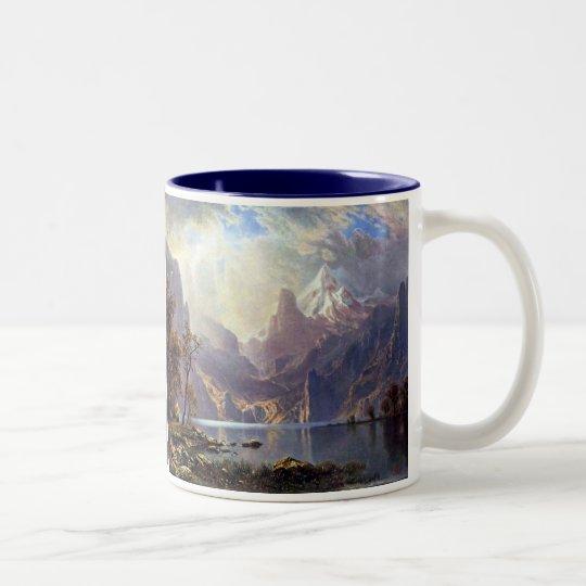 Vintage Landscape, Lake Tahoe by Albert Bierstadt Two-Tone Coffee Mug