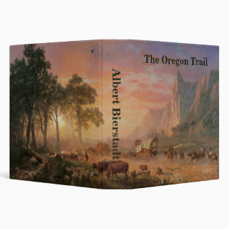 Vintage Landscape, Oregon Trail by Bierstadt Binder