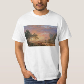 Vintage Landscape, Oregon Trail by Bierstadt T-Shirt