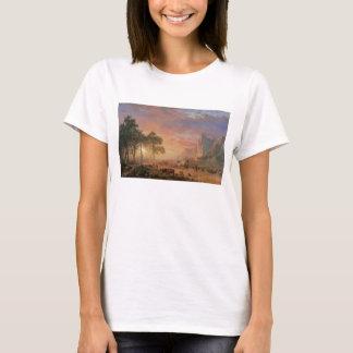 Vintage Landscape, Oregon Trail by Bierstadt T-Shirt