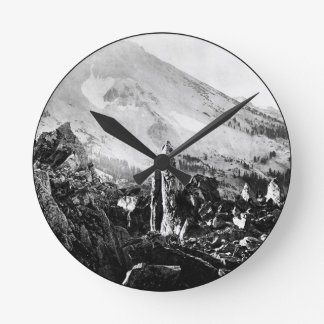 Vintage Landscape Photo Round Clock