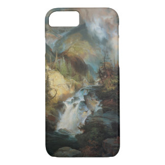 Vintage Landscape Waterfall in Mountains by Moran iPhone 8/7 Case