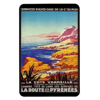 Vintage Languedoc-Rousillon, France - Rectangular Photo Magnet