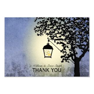 Vintage Lantern Streetlamp Personalized Thank You Card