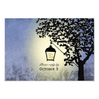 Vintage Lantern Streetlamp RSVP Card