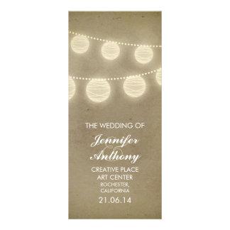 vintage lanterns stylish wedding programs