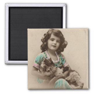 Vintage Lap cat Magnet