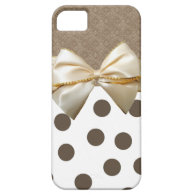 Vintage Large Brown Polka Dots iPhone 5 Cover