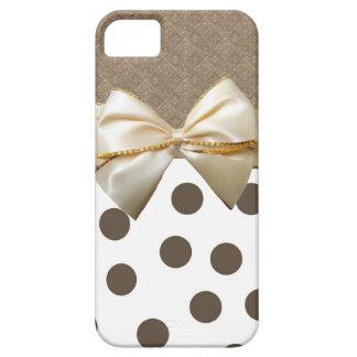 Vintage Large Brown Polka Dots iPhone SE/5/5s Case