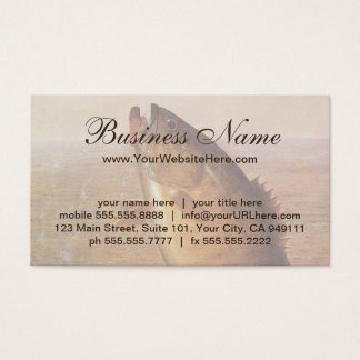 Vintage Largemouth Brown Bass Fish, Sports Fishing Business Card