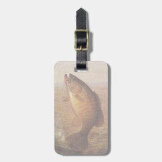 Vintage Largemouth Brown Bass, Sports Lake Fishing Bag Tag