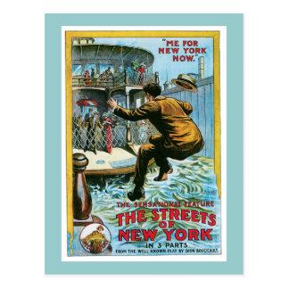 Vintage las calles del poster de Nueva York Postales