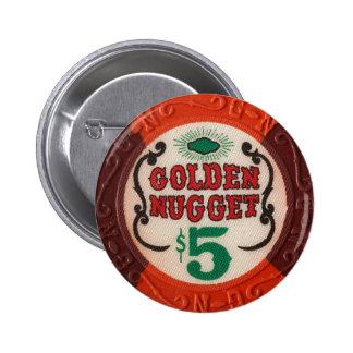 Vintage Las Vegas Casino Poker Chip Chips Gambling Button
