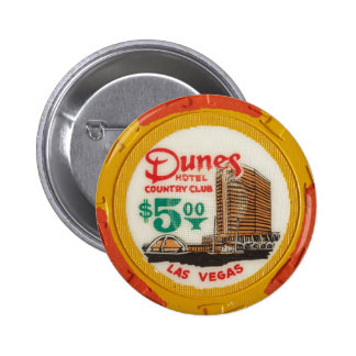 Vintage Las Vegas Casino Poker Chip Chips Gambling Pinback Button