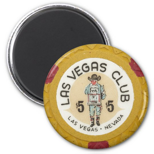 Vintage Las Vegas Casino Poker Chip Gambling Party Magnet