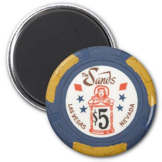 Vintage Las Vegas Casino Poker Chip Gambling Party Magnet