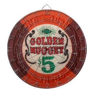 Vintage Las Vegas Casino Poker Chip Game Dartboards