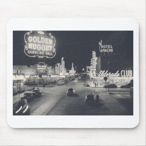 Vintage Las Vegas céntrico Alfombrillas De Ratón