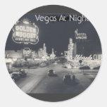 Vintage Las Vegas céntrico Etiquetas Redondas