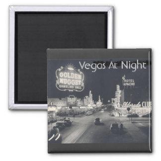 Vintage Las Vegas céntrico Imán Cuadrado