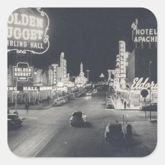 Vintage Las Vegas céntrico Pegatina Cuadrada