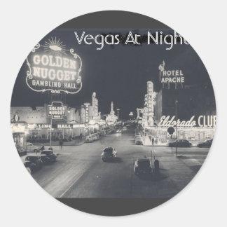 Vintage Las Vegas céntrico Pegatina Redonda