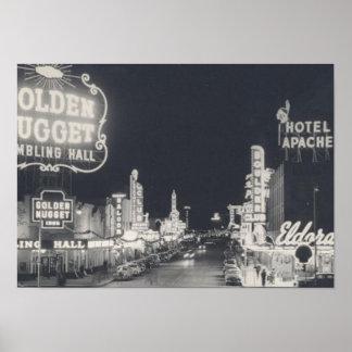 Vintage Las Vegas céntrico Póster