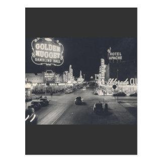 Vintage Las Vegas céntrico Tarjeta Postal